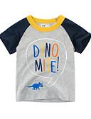 billige Topper til gutter-Baby Gutt Aktiv Daglig Geometrisk / Fargeblokk Trykt mønster Kortermet Normal Polyester T-skjorte Hvit