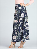 tanie Bikini i odzież kąpielowa-Damskie Boho Maxi Linia A / Swing Spódnice - Wyjściowe Kwiaty Nadruk / Szczupła