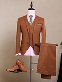 billige Kjoler til brudens mor-Ensfarget Skreddersydd Polyester Dress - Med hakk Enkelt Brystet To-knapp