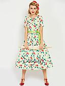 povoljno Vintage kraljica-Audrey Hepburn Retro / vintage 1950-te 1960 Osa struka Haljine Žene Kostim Obala Vintage Cosplay Maturalna zabava Dugih rukava Dužina kratkih hlača