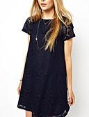 baratos Vestidos Plus Size-Mulheres Sofisticado Tamanhos Grandes Calças - Sólido Azul Marinho / Para Noite