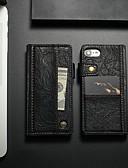 povoljno Maske za mobitele-Θήκη Za Apple iPhone 8 / iPhone 7 Utor za kartice / Otporno na trešnju / sa stalkom Korice Jednobojni Tvrdo PU koža