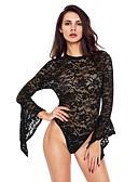 olcso Szexi testek-Női Teddy Hálóruha - Csipke Egyszínű