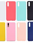olcso Mobiltelefon tokok-Case Kompatibilitás Huawei P20 / P20 Pro Jeges Fekete tok Egyszínű Puha TPU mert Huawei Nova 3i / Huawei P20 / Huawei P20 Pro