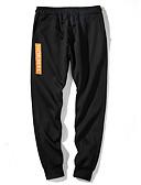 お買い得  メンズパンツ&ショーツ-男性用 ストリートファッション スウェットパンツ パンツ - ソリッド ブラック