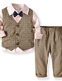 povoljno Kompletići za dječake-Djeca Dječaci Osnovni Dnevno Jednobojni Dugih rukava Regularna Normalne dužine Komplet odjeće Plava