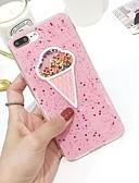 halpa iPhone kotelot-Etui Käyttötarkoitus Apple iPhone 8 Ultraohut / Kuvio Takakuori Jäätelö Pehmeä TPU