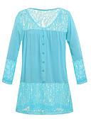 お買い得  マキシドレス-女性用 レース Tシャツ ストリートファッション ソリッド