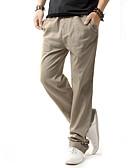 hesapli Erkek Gömlekleri-Erkek Temel Büyük Bedenler Günlük Chinos / Eşoğman Altı Pantolon - Solid Keten Bej Koyu Mavi Gri XXXL XXXXL XXXXXL