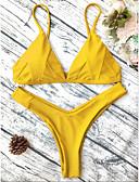 povoljno Bikinis-Žene Osnovni Red Sive boje Bijela Tanga gaćice Bikini Kupaći kostimi - Geometrijski oblici S M L