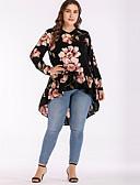 cheap Women's Blouses-Women's Street chic T-shirt - Floral Print