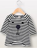 Χαμηλού Κόστους Βρεφικά σετ ρούχων-Μωρό Κοριτσίστικα Ενεργό Ριγέ Μακρυμάνικο Πολυεστέρας Φόρεμα Μαύρο