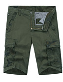 levne Pánská polo trika-Pánské Základní Denní Štíhlý Kalhoty chinos Kalhoty - Jednobarevné Vysoký pas Oranžová Armádní zelená Khaki XXXXL XXXXXL XXXXXXL