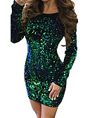 cheap Party Dresses-Women's Party Daily Basic Sheath Dress - Solid Colored Spring Gold Green Red L XL XXL / Sexy