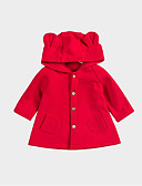 povoljno Vanjska odjeća za bebe-Dijete Djevojčice Osnovni Jednobojni Dugih rukava Normalne dužine Jakna i kaput Red