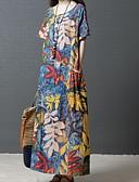 hesapli Maksi Elbiseler-kadınların günlük maksi bir çizgi elbise mavi kahverengi m l xl xxl