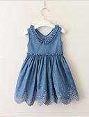 economico Vestiti per ragazze-Bambino (1-4 anni) Da ragazza Dolce / stile sveglio Tinta unita Senza maniche Vestito Blu