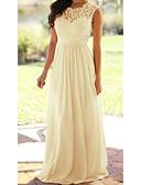 Χαμηλού Κόστους Μακριά Φορέματα-Γυναικεία Αργίες Λεπτό Σιφόν Φόρεμα Μακρύ