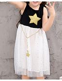 preiswerte Kleider für Mädchen-Baby Mädchen Aktiv Alltag Geometrisch / Einfarbig Ärmellos Knielang Kleid Weiß