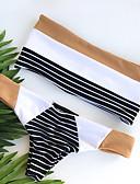 cheap Bikinis-Women's Basic Strapless White Bikini Swimwear - Striped Backless S M L White