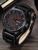 cheap Luxury Watches-Men's Dress Watch Wrist Watch Quartz Genuine Leather Black / Brown Water Resistant / Waterproof Calendar / date / day Three Time Zones Analog Classic Fashion - Brown Black / Yellow White / Brown