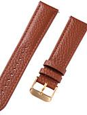 economico Cinturino in pelle-vera pelle / Pelle / Pelo di vitello Cinturino per orologio  Cinghia per Marrone 20cm / 7.9 Pollici 1cm / 0.39 Pollici / 1.2cm / 0.47 Pollici / 1.3cm / 0.5 Pollici