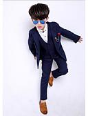 זול חליפות לנושאי הטבעת-אפור / נייבי כהה פוליאסטר חליפה לנושא הטבעת  - 1set כולל וסט