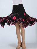 رخيصةأون ملابس رقص لاتيني-Ballroom Dance بنطلونات وفساتين نسائي التدريب / أداء بوليستر زينة / ruching في ارتفاع عال تنانير