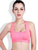 hesapli Sport Bras Collection-Kadın's AB / ABD Beden Sexy Tam Kaplama Sutyenler Spor Sutyen Solid Polyester
