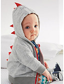 levne Chlapecké mikiny-Dítě Chlapecké Základní Denní Barevné bloky Dlouhý rukáv Standardní Bavlna Mikinky Tmavě šedá / Toddler