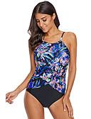 cheap One-piece swimsuits-Women's Basic Strap Rainbow High Waist One-piece Swimwear - Geometric Print XL XXL XXXL Rainbow / Sexy