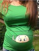 povoljno Majice-Majčinski Majica s rukavima Žene Dnevno Crtani film Print Braon