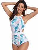 זול בגדי ים וביקיני-נורמלי ניילון בגדי ים & ביקיני מגע של התרגשות פרחוני לבוש יומיומי פרחוני