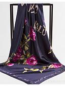 Недорогие Женские шарфы-Жен. Квадратный платок - С кисточками Цветочный принт