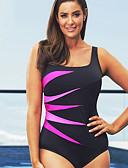preiswerte Badebekleidung in Übergröße-Damen Übergrössen Gurt Grün Rote Purpur Cheeky-Bikinihose Einteiler Bademode - Gestreift XXXL XXXXL XXXXXL Grün / Sexy