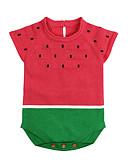 tanie Baby Boys' One-Piece-Dziecko Dla chłopców Aktywny Codzienny Solidne kolory Groszki Rękaw 1/2 Bawełna Body Czerwony