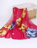 お買い得  レディース・スカーフ-女性用 プリーツ ベーシック / ホリデー フラワー 長方形スカーフ