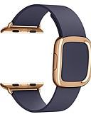 זול להקות Smartwatch-צפו בנד ל סדרת Apple Watch 5/4/3/2/1 / Apple Watch Series 4 Apple אבזם מודרני עור אמיתי רצועת יד לספורט