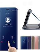 Недорогие Цифровые часы-Кейс для Назначение Xiaomi Mi Note 3 / Xiaomi Mi 8 / Xiaomi Mi 8 SE Покрытие / Зеркальная поверхность / Флип Чехол Однотонный Твердый ПК / силикагель / Xiaomi Mi 6