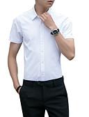 voordelige Herenoverhemden-Heren Grote maten - Overhemd Effen Wit XXXL