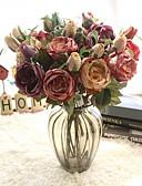 povoljno Kompletići za dječake-Umjetna Cvijeće 1 Podružnica Klasični Europska Roses Vječni cvjetovi Cvjeće za stol