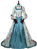 cheap Historical & Vintage Costumes-Princess Queen Elizabeth Rococo Victorian 18th Century Costume Women's Dress Party Costume Costume Blue Vintage Cosplay Silk Masquerade Party & Evening 3/4-Length Sleeve Off Shoulder Floor Length