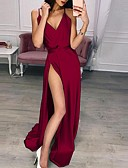 povoljno Maxi haljine-Žene Osnovni Swing kroj Haljina Jednobojni Maxi