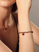halpa Korukellot-Naisten Rannerengas Heart Yksinkertainen Makea Tyylikäs Titaaniteräs Rannekorun korut Punainen Käyttötarkoitus Lahja Päivittäin