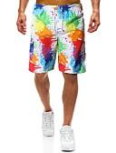 お買い得  メンズパンツ&ショーツ-男性用 ベーシック ショーツ パンツ - プリント レインボー