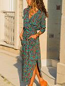 お買い得  女児 ドレス-女性用 コットン シフト ドレス ミディ Vネック