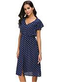abordables Blusas para Mujer-Mujer Elegante Línea A Vestido A Lunares Midi