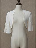 Χαμηλού Κόστους Φορέματα για κορίτσια-Μισό μανίκι Σιφόν Γάμου / Πάρτι / Βράδυ Γυναικείες εσάρμπες Με Μονόχρωμο Μπολερό
