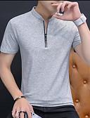 abordables Camisetas y Tops de Hombre-Hombre Polo Un Color Negro XXL
