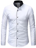 お買い得  メンズブレザー&スーツ-男性用 シャツ カラーブロック ホワイト XL